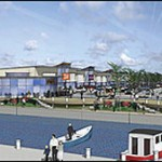Picture shows an architect's impression from 2006 of the development in Welshpool