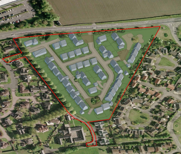 Residential development in Linlithgow, West Lothian
